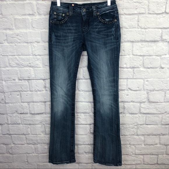 Miss Me Denim - Miss Me Distressed Boot Cut Jeans